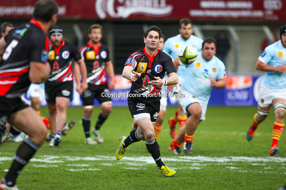 Nicolas LAHARRAGUE - 25.01.2015 -  Perpignan / Tarbes - 18eme journee de Pro D2