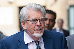 London, May 22nd 2014. Entertainer Rolf Harris arrives at Southwark Crown Court where the case for the prosecution in his trial on 12 counts of indecent assault against four girls aged between 7 and 19, is nearing its end.