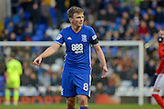 Birmingham City midfielder Stephen Gleeson (8) 0-0 during the EFL Sky Bet Championship match between Birmingham City and Nottingham Forest at St Andrews, Birmingham, England on 14 January 2017. Photo by Alan Franklin.