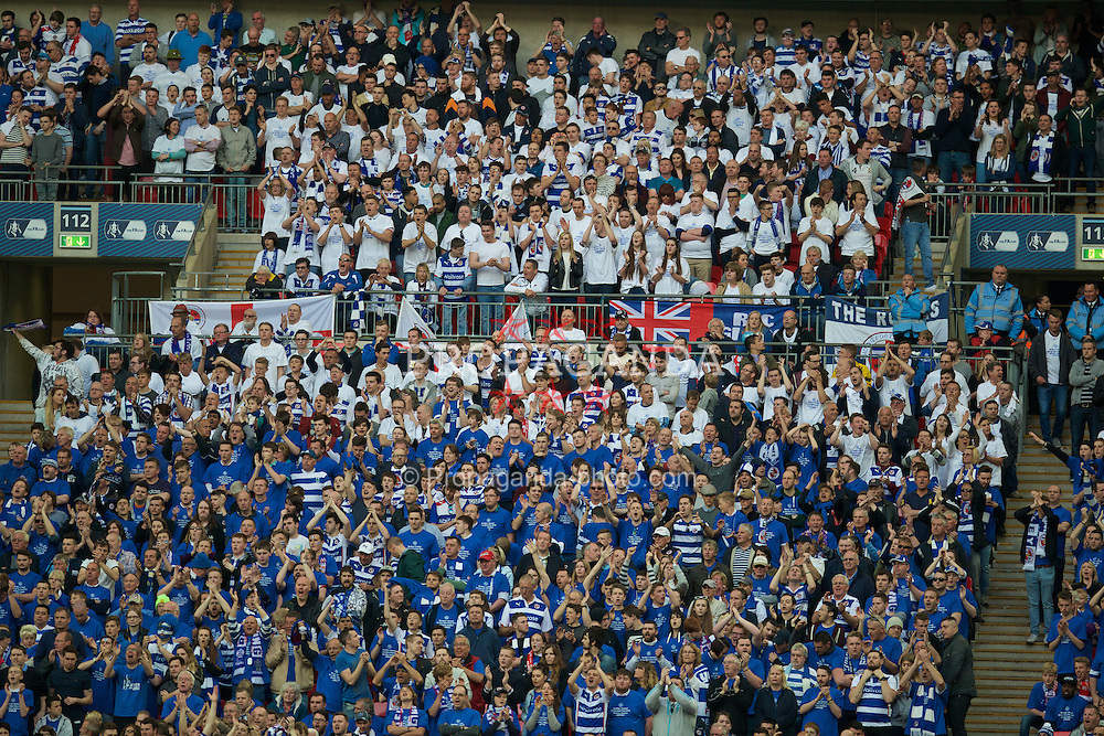 LONDON, ENGLAND - Saturday, April 18, 2015: Reading supporters during the FA Cup Semi-Final match against Arsenal at Wembley Stadium. (Pic by David Rawcliffe/Propaganda)