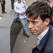 Protestors confront Rory Stewart of Secretary of State of International Development and is running up for PM head to head with Boris during  Justice 4Grenfell - 2nd anniversary of the atrocity of the Grenfell Tower fire. No deaths should be in vain! Where is the change, where is the justice? March, assembly outside Down Street march to the Home Offical, on 15 June 2019, London, UK.