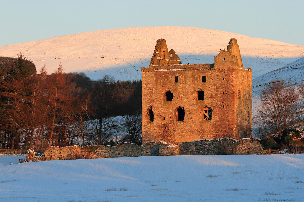 Newark Castle is a large, ruined tower house standing in the grounds of Bowhill House, in the valley of the Yarrow Water three miles west of Selkirk in the Scottish Borders