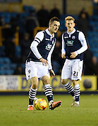 Millwall goalscorer Shaun Williams threads a through ball during the Sky Bet League 1 match between Millwall and Bury at The Den, London, England on 28 November 2015. Photo by David Charbit.