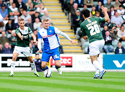 Bristol Rovers' Ryan Brunt in action against Plymouth Argyle  - Photo mandatory by-line: Dougie Allward/JMP - Tel: Mobile: 07966 386802 07/09/2013 - SPORT - FOOTBALL -  Home Park - Plymouth - Plymouth Argyle V Bristol Rovers - Sky Bet League Two