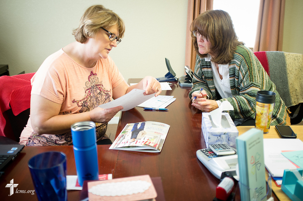 Executive Director Sheryl DeWitt (left) works with Maureen Detmer at Redeeming Life Maternity Home  on Thursday, Feb. 12, 2015, in Sanford, Fla. The Christ-centered home of Redeeming Life Outreach Ministries is a safe haven for single women in crisis pregnancy. LCMS Communications/Erik M. Lunsford