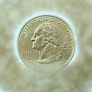 Digitally Enhanced US one Quarter Dollar coin (25 cents)