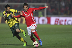March 18, 2017 - Pacos De Ferreira, Pacos Ferreira, Portugal - Benfica's Serbian forward Andrija Zivkovic (R) during the Premier League 2016/17 match between Pacos Ferreira and SL Benfica, at Mata Real Stadium in Pacos de Ferreira on March 18, 2017. (Credit Image: © Dpi/NurPhoto via ZUMA Press)