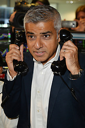 &copy; Licensed to London News Pictures. 11/09/2017. London Mayor SADIQ KHAN<br />  takes part in the on the annual BGC Partners Charity Day in commemoration of its 658 friends and colleagues and 61 Eurobroker employees lost in the World Trade Center attacks on 9/11. PIcture Credit: Tang/LNP