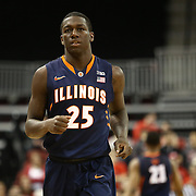 Kendrick Nunn #25 of the Illinois Fighting Illini is seen during the NIT First Round game at Agganis Arena on March 19, 2014 in Boston, Massachusetts . (Photo by Elan Kawesch)