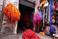 Morocco, Marrakech souk, bazar , market in the center of the medina, old city