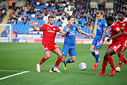 Peterborough United midfielder Alex Woodyard (4) going forward during the EFL Sky Bet League 1 match between Peterborough United and Accrington Stanley at London Road, Peterborough, England on 20 October 2018.