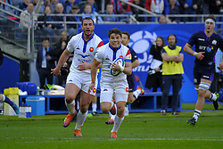 February 23, 2019 - Saint Denis, Seine Saint Denis, France - The Wing of French Team DAMIAN PENAUD in action during the Guinness Six Nations Rugby tournament between France and Scotland at the Stade de France - St Denis - France.France won 27-10 (Credit Image: © Pierre Stevenin/ZUMA Wire)