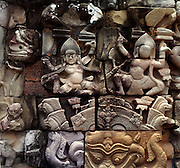 Buddha carvings - Mahabodhi Temple - Bhod Gaya