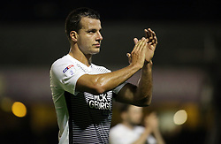 Steven Taylor of Peterborough United acknowledges the supporters at full-time - Mandatory by-line: Joe Dent/JMP - 17/10/2017 - FOOTBALL - Roots Hall - Southend-on-Sea, England - Southend United v Peterborough United - Sky Bet League Two