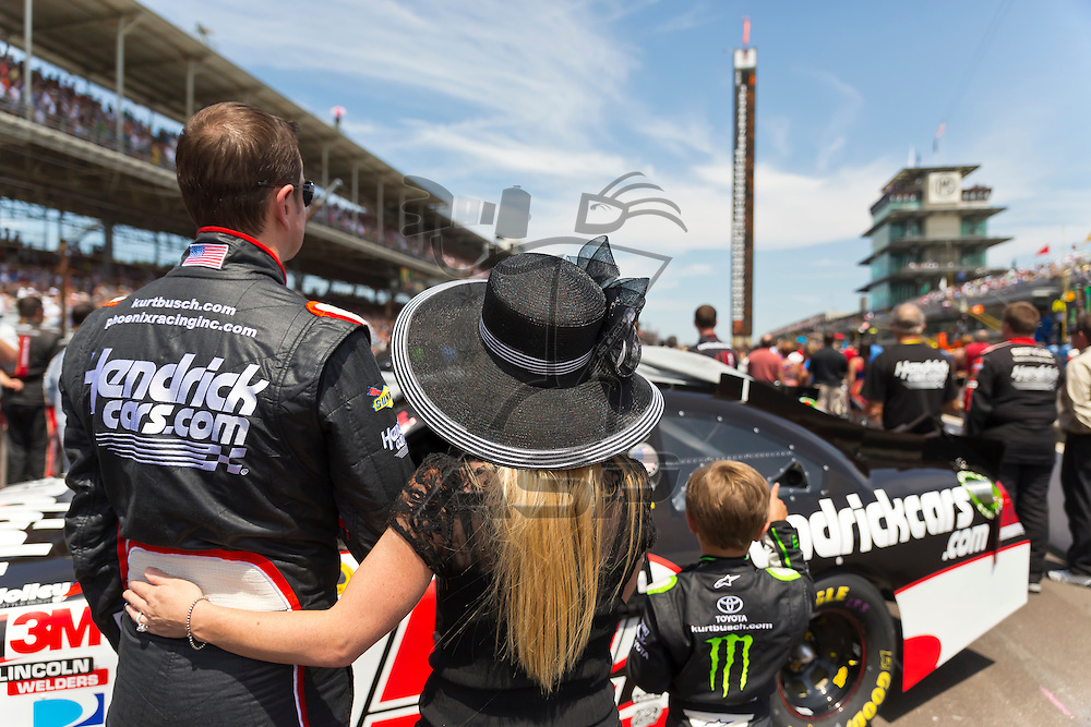 INDIANPOLIS, IN - JUL 29, 2012:  Kurt Busch (51) prepares to run the Sprint Cup Series race at the Indianapolis Motor Speedway in Indianapolis, IN.