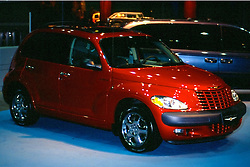 chrysler pt cruiser as seen at the Chicago Auto Show in February 2001 at McCormick Place, Chicago Illinois...This image was scanned from a slide, print or transparency.  Image quality may vary.  Dust and other unwanted artifacts may exist.