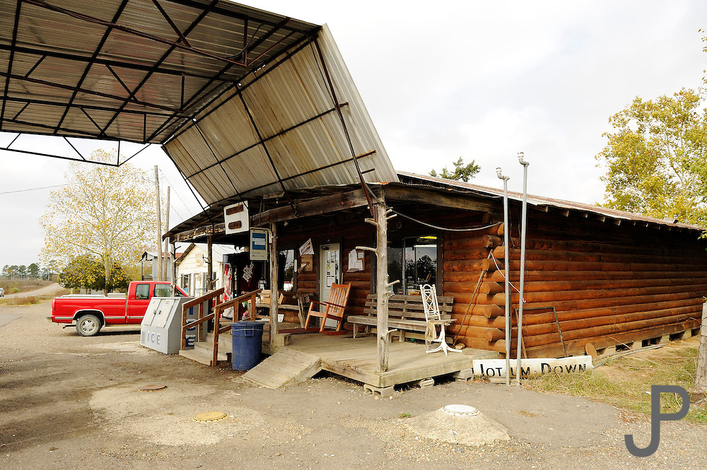 The only business in Pickens, Oklahoma is a small old fashioned convenience store.