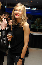 KIM HERSOV at a dinner hosted by Cartier to celebrate the opening of the 2004 Frieze Art Fair, held at Yauacha 15-17 Broadwick Street, London W1 on 13th October 2004.<br />