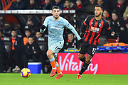 Pedro (11) of Chelsea chased by Joshua King (17) of AFC Bournemouth during the Premier League match between Bournemouth and Chelsea at the Vitality Stadium, Bournemouth, England on 30 January 2019.