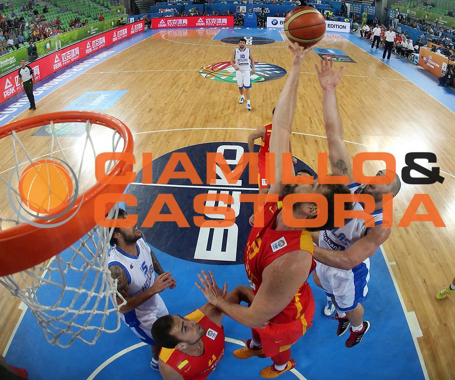 DESCRIZIONE : Lubiana Ljubliana Slovenia Eurobasket Men 2013 Second Round Grecia Spagna Greece Spain<br /> GIOCATORE : Marc Gasol<br /> CATEGORIA : rimabzlzo rebound special<br /> SQUADRA : Spagna Spain<br /> EVENTO : Eurobasket Men 2013<br /> GARA : Grecia Spagna Greece Spain<br /> DATA : 12/09/2013 <br /> SPORT : Pallacanestro <br /> AUTORE : Agenzia Ciamillo-Castoria/ElioCastoria<br /> Galleria : Eurobasket Men 2013<br /> Fotonotizia : Lubiana Ljubliana Slovenia Eurobasket Men 2013 Second Round Grecia Spagna Greece Spain<br /> Predefinita :