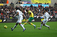 Picture by Paul Chesterton/Focus Images Ltd.  07904 640267.11/02/12.Anthony Pilkington of Norwich scores his sides 2nd goal and celebrates during the Barclays Premier League match at Liberty Stadium, Swansea.