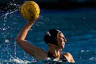 Sophomore Stephanie Bocian takes a shot on goal during the Triton's loss to the University of Hawaii at the Canyonview Aquatic Center on UCSD's campus in San Diego, Calif., April 9, 2008.
