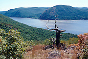 The Hudson River as seen from Breakneck Ridge. Storm King Mountain is on the opposite shore.