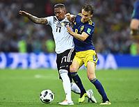 v.l. Jerome Boateng, Albin Ekdal (Schweden)<br /> Sotschi, 23.06.2018, FIFA Fussball WM 2018 in Russland, Vorrunde, <br /> Tyskland - Sverige<br /> <br /> Norway only