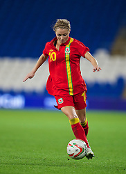 CARDIFF, WALES - Thursday, September 26, 2013: Wales' Sarah Wiltshire in action against Belarus during the FIFA Women's World Cup Canada 2015 Qualifying Group 6 match at the Cardiff City Stadium. (Pic by David Rawcliffe/Propaganda)