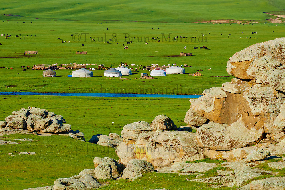 Mongolie, Arkhangai, campement nomade  // Mongolia, Arkhangai province, nomad camp
