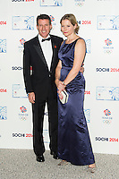 Carole Annett; Sebastian Coe , British Olympic Ball, Dorchester (Opal Room), London UK, 30 October 2013, Photo by Raimondas Kazenas