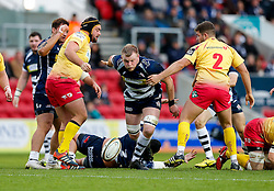 Bristol Rugby Lock Joe Joyce in action - Mandatory byline: Rogan Thomson/JMP - 22/11/2015 - RUGBY UNION - Ashton Gate Stadium - Bristol, England - Bristol Rugby v Scarlets Premiership Select - B&I Cup.
