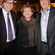 NLD/Amsterdam/20120309 - Boekpresentatie Een Krankzinnig Avontuur van Hans van Mierlo, Europarlementarier Guy Verhofstadt, Connie Palmen, Fractievoorzitter D66 Alexander Pechtold