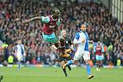 West Ham United midfielder, on loan from Chelsea, Victor Moses  scores a goal for West Ham United  during the The FA Cup match between Blackburn Rovers and West Ham United at Ewood Park, Blackburn, England on 21 February 2016. Photo by Simon Davies.