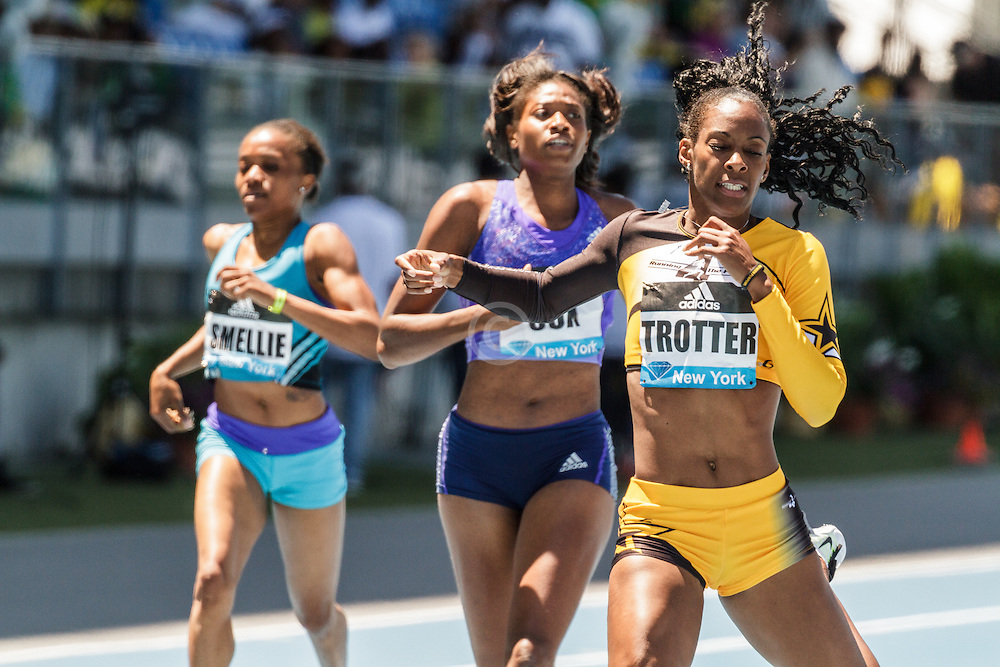 adidas Grand Prix Diamond League Track & Field: womens 400 B, Deedee Trotter wins