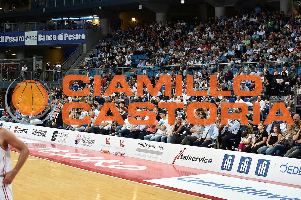 Tifosi, Pubblico, Spettatori, Consultinvest pesaro<br /> Consultinvest Pesaro - Germani Basket Brescia<br /> BASKET Serie A 2016 <br /> Pesaro 02/10/2016 <br /> FOTO CIAMILLO
