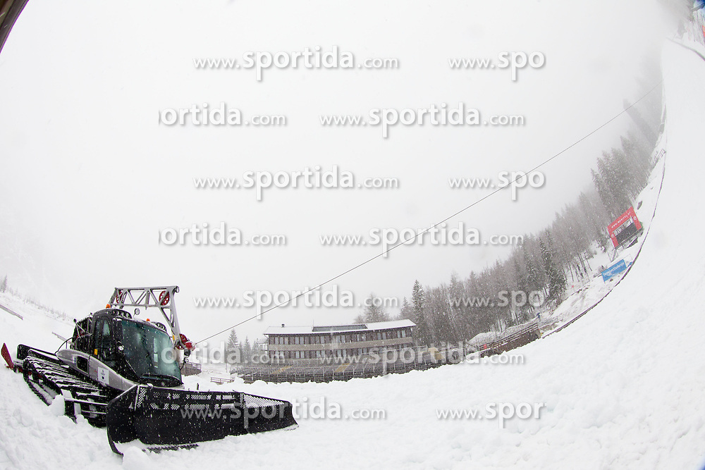 Preparation of Planica hill before World Cup Competition, on March 13, 2013 in Planica, Slovenia. (Photo by Vid Ponikvar / Sportida.com)