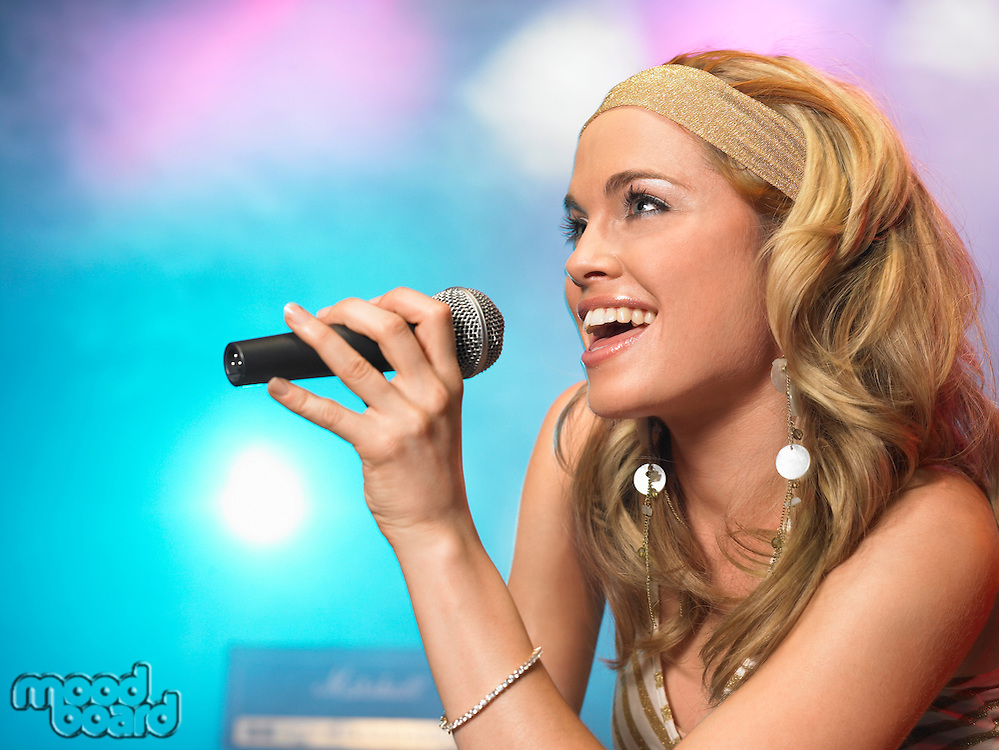 Pop Singer Performing on Stage