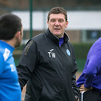 St Johnstone Manager Tommy Wright pictured at training this morning....17.10.13<br /> Picture by Graeme Hart.<br /> Copyright Perthshire Picture Agency<br /> Tel: 01738 623350  Mobile: 07990 594431