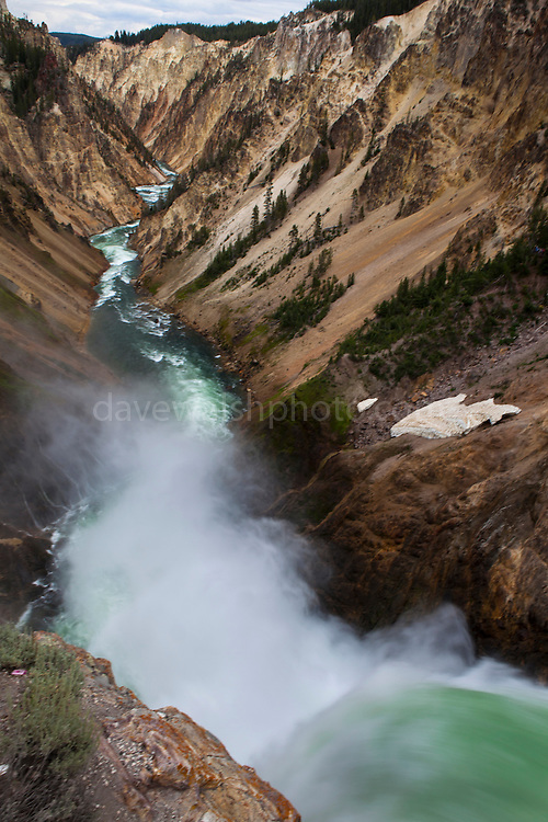 """Lower Falls, falling 94m on the Yellowstone River. The Grand Canyon of Yellowstone, in Yellowstone National Park, Wyoming. The reason for the colours of the rhyolite rocks is that they are oxidising, or rusting due to their iron content. This mage can be licensed via Millennium Images. Contact me for more details, or email mail@milim.com For prints, contact me, or click """"add to cart"""" to some standard print options."""