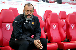 Wolverhampton Wanderers manager Nuno Espirito Santo before the Sky Bet Championship match at Riverside Stadium, Middlesbrough.