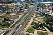 Nederland, Utrecht, Leidsche Rijn, 03-05-2011; Spoorlijn met station Utrecht Terweide. New district with new railway station..luchtfoto (toeslag), aerial photo (additional fee required).copyright foto/photo Siebe Swart
