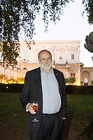 ROME, ITALY - 3 JUNE 2015: President of Slow Food Carlo Petrini poses for a portrait at the McKim Medal Gala honouring Carlo Petrini and Paolo Sorrentino at the American Academy  in Rome, Italy, on June 3rd 2015.