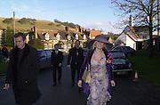 Ewan MacGegor, Marriage of Emily Mortimer, ( daughter of John Mortimer ) to Alessandro Nivola, Turville.© Copyright Photograph by Dafydd Jones 66 Stockwell Park Rd. London SW9 0DA Tel 020 7733 0108 www.dafjones.com