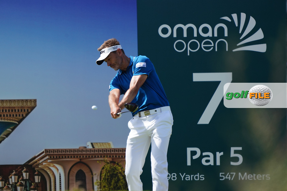 Raphael Jacquelin (FRA) on the 7th during Round 2 of the Oman Open 2020 at the Al Mouj Golf Club, Muscat, Oman . 28/02/2020<br /> Picture: Golffile | Thos Caffrey<br /> <br /> <br /> All photo usage must carry mandatory copyright credit (© Golffile | Thos Caffrey)