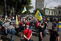 May 24, 2017 - Kiev, Ukraine - Dozens of people block the street near Ukrainian parliament Verkhovna Rada by their vehicles, brought in Ukraine from EU countries, demanding to annul customs taxes for cars been in use, Kyiv, Ukraine, May 24, 2017. (Credit Image: © Sergii Kharchenko/NurPhoto via ZUMA Press)
