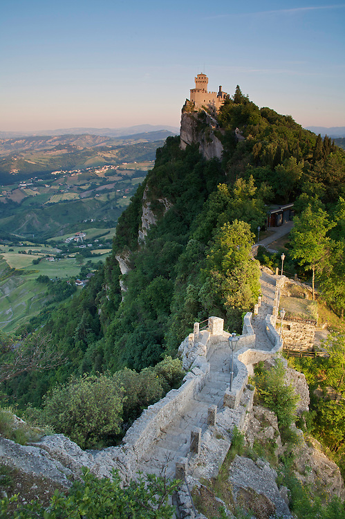 View of the second Tower, Monte Titano, San Marino.