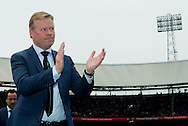 ROTTERDAM, Feyenoord - Go Ahead Eagles, voetbal Eredivisie, seizoen 2013-2014, 30-03-2014, Stadion de Kuip, Feyenoord coach Ronald Koeman is blij met de overwinning.