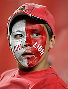 A Big Lion Supporter at the Super 14 match between the Lions and the Crusaders that took place at Ellis Park in Johannesburg, South Africa on Saturday 17 Febr 2007. The Lions won this 3rd round home game 9 - 3 to secure 2 wins from 3.<br /> Photo : Anton de Villiers/PHOTOSPORT