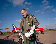 Former Chief of the Air Staff Sir Jock Stirrup pays visit to Red Arrows, Britain's Royal Air Force aerobatic team. ..Air Chief Marshal Sir Graham Eric (Jock) Stirrup